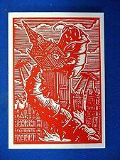 TOPPS MARS ATTACKS OCCUPATION *WOOD CUT ART CARD MA-LP 7 LONDON IN FLAMES