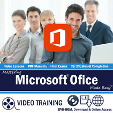 Learn Microsoft ACCESS EXCEL WORD OUTLOOK 2016 2013 Training DVD-ROM Tutorial