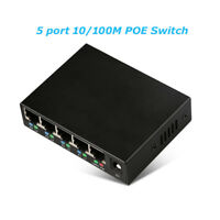 A51 5 Port 10/100 Mbit Netzwerk PoE-Switch Verteiler RJ45 Ethernet LAN Hub DSL
