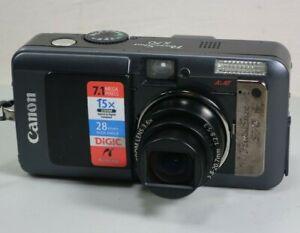 Canon PowerShot S70 7.1MP Digital Camera - Black *GOOD/TESTED*