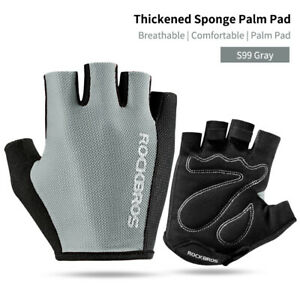 ROCKBROS Bike Half Finger Paded Gloves Sports Cycling Summer Breathable Gloves