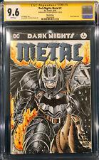 ALEX KOTKIN ORIGINAL Signed Sketch Art CGC 9.6 BATMAN JOKER DARK NIGHTS METAL #1
