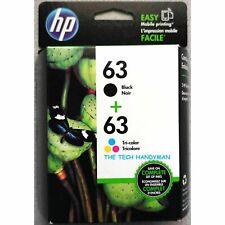 Genuine HP63 Black & Colour Combo Pack for HP Deskjet 2132,3630 Officejet 5220