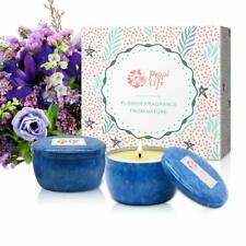 Floral Scented Soy Wax Candles Value Pack 4.5 oz Ea Gift Set