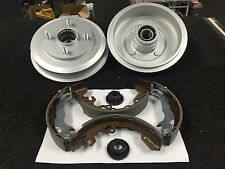FORD FOCUS REAR BRAKE DRUM COATED PRESSED WHEEL BEARING BRAKE SHOES BOTH SIDE