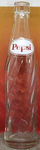 1966 Pepsi Glass Bottle 10 Fluid Ounce Oval Label (D) Pepsi-Cola