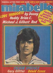 MIRABELLE magazine (2 Mar 1974) Donny Osmond Gary Glitter David Essex