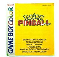 Notice jeu Nintendo Game Boy Color Pokemon Pinball Instruction Booklet PAL EUR