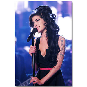 Amy Winehouse Music Singer Star Art Silk Poster 13x20 inches 002