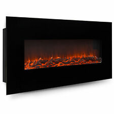 BCP 50in Electric Wall Mounted Fireplace Heater - Black