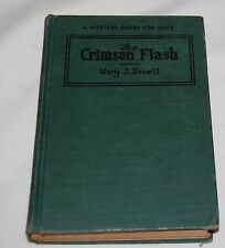 Vintage Crimson Flash Roy Snell 1922 Book Mystery Stories for Boys