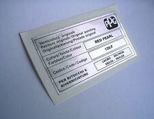 LANCIA DELTA INTEGRALE PPG COLORE / COLOUR / FARBTON RED PEARL 126/F STICKER