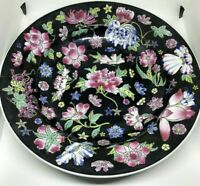 18th C Antique Collectible Fine Chinese Porcelain Famille Rose Flower Dish Plate