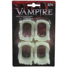 10 X Halloween brille dans le noir vampire dents de déguisement ASTUCE bonbons