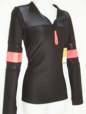 C&C CALIFORNIA WOMEN'S PARTIAL ZIP FRONT LONG SLEEVE TOP SIZE STRETCHY S NWT