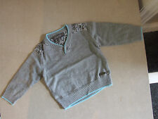 Gorgeous Pompomme Baby Boy 9m Months Paisly Grey Classic Warm Kniteed Jumper