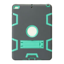 "It for iPad 2017 9.7"" 5th Generation Shockproof Defender Armor Stand Case Cover Grey MINT"