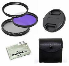 Maxsimafoto - 49mm filter set - UV, CPL and FLD for Pentax SMC FA 43mm f1.9