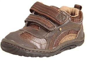 Infant Stride Rite Landon Brown Unisex First Walker H&L Shoes BB39580 4.5 M & W