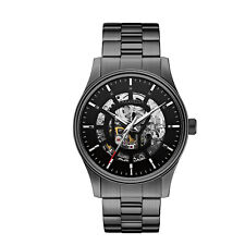 Caravelle New York Men's 45A121 Automatic Skeleton Dial Black Dial 42mm Watch