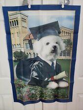 Willabee & Ward Bichon Frises Wall Hanging Dog School Graduate Flag banner  b8