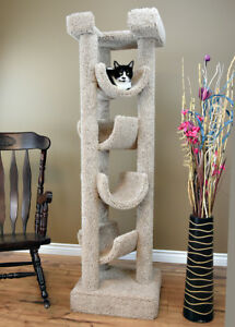 PREMIER SOLID WOOD 6-FT. SKYSCRAPER CAT TREE - FREE SHIPPING IN THE U.S.