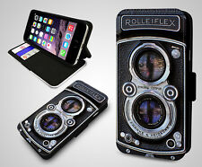 Rolleiflex Cool Retro Camera Lecia Photography Leather Wallet Phone Case Cover