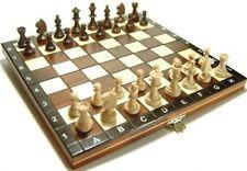 Reise Schachspiel magnetisch aus Holz - Schach -klapp. Brett+Figuren-26cm x 26cm