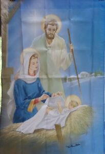 Nativity Large House Flag by NCE #08223