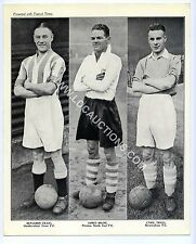 (Ga1688) Full Set, Topical Times, Triple Footballers, 1937 VG-EX, All 8 scanned