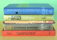 Teacher Books Lot 6—School Education 1956-1974—Science Literature—Social Studies