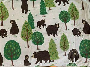 Woodland bears kids flannelette sheet and pillow set - Single bed