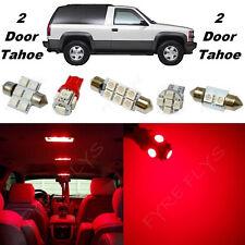 22x Red LED lights interior package + Gauge cluster 1992-1999 Tahoe/Yukon CT5R