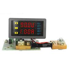 DC 10V-90V 0-100A Dual Digital Led Voltmeter Ammeter  Amp Power Meter + Shunt
