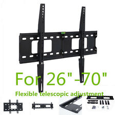 TV Wall Mount Bracket Kit for Flat LCD Screen 26 40 42 46 50 52 55 60 70in New
