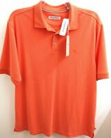 New Tommy Bahama Mens Size XL All Square Orange Bird of Paradise Polo Shirt NWT
