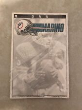 1991 Sportspads Dan Marino Note Pad 50 Sheets New Miami Dolphins