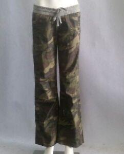 Lorna Jane Womens Flash Dance Pants Workout Yoga Green Camo F/T Trousers SZ M L