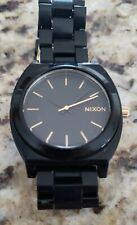 Nixon The Timeteller Acetate Black/Gold Watch 40mm, small bracelet size New batt
