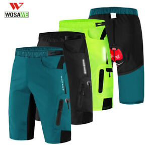 Uomo ciclismo Pantaloncini larghi Pantaloni imbottiti da MTB Bike Cycling Shorts