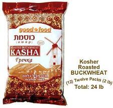 Kosher Roasted BUCKWHEAT groats - (12) Twelve 2 LB Packs - Imported from Israel