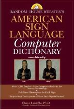 Random House Webster's American Sign Language Computer Dictionary-ExLibrary