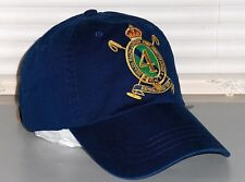 POLO RALPH LAUREN Gold Crest Chino Hat, Sport Ball Cap, Leather Strap, NAVY BLUE