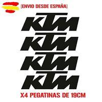Vinilo de corte pegatinas X4 logos ktm de 19cm moto sticker decal