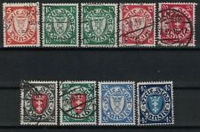 DANZIG:1924-37 SC#170,173,176,177,179,181,184(9) Mint/Used H - Coat of Arms