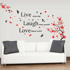 Walplus Wall Sticker Decal Wall Art Blossom Flower with Live Laugh Love Quote