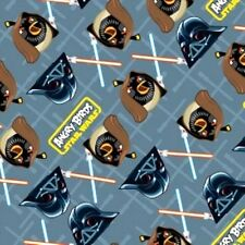 Angry Birds Star Wars grid Camelot 100% cotton Fabric by the yard
