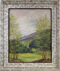 99860115 Öl-Gemälde monogramm. HHM Landschaft in Thüringen Thüringer Wald
