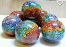Reiki Energy Charged 7 Chakra Orgone Ball Sphere  1x Reiki Healing Meditation UK