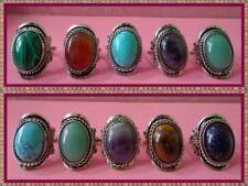 BEAUTIFUL 100 PERU RINGS SEMI PRECIOUS STONES & AGATE STONES HANDCRAFTED